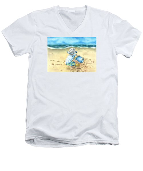 Playing On The Beach Men's V-Neck T-Shirt