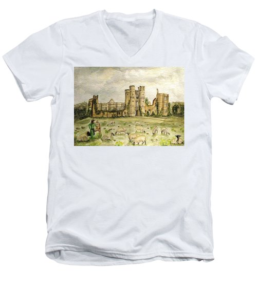 Plein Air Painting At Cowdray House Sussex Men's V-Neck T-Shirt