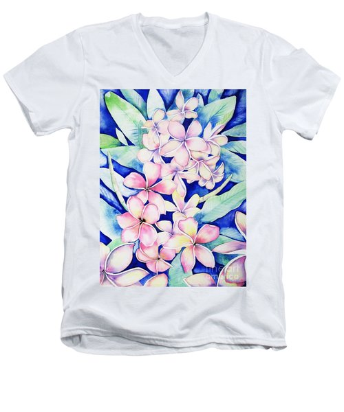 Plumerias Of Maui Men's V-Neck T-Shirt