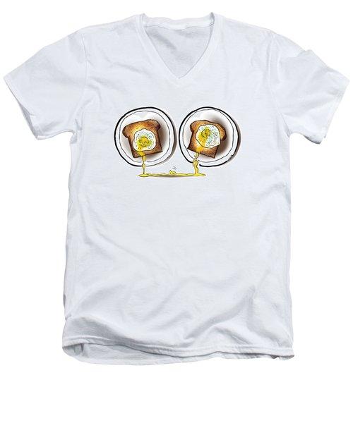 Poached Egg Love Men's V-Neck T-Shirt