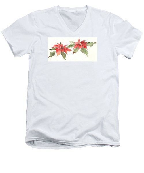 Poinsettias Men's V-Neck T-Shirt