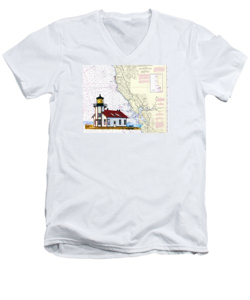 Point Cabrillo Light Station Men's V-Neck T-Shirt by Mike Robles