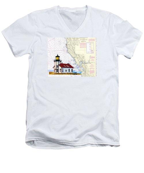 Point Cabrillo Light Station Men's V-Neck T-Shirt