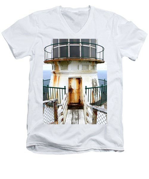 Point Reyes Historic Lighthouse Men's V-Neck T-Shirt