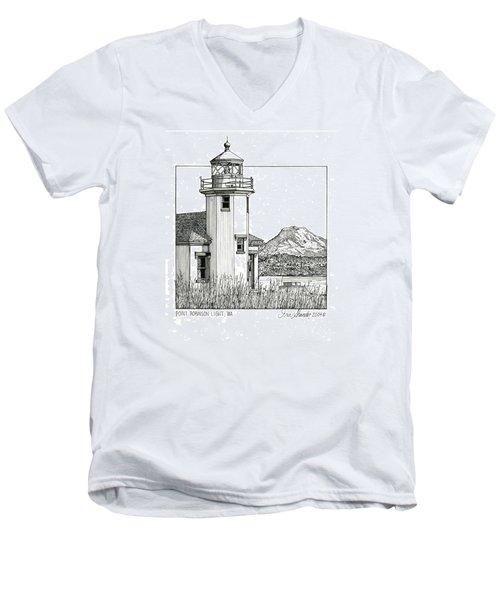 Point Robinson Light Men's V-Neck T-Shirt by Ira Shander
