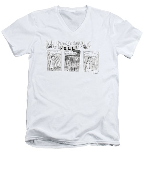 Pollyanna In Hell Men's V-Neck T-Shirt