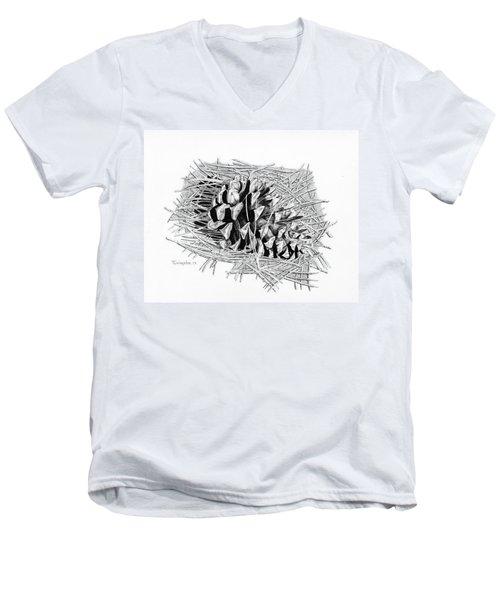Ponderosa Pine Cone Men's V-Neck T-Shirt