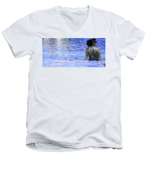 Pool Men's V-Neck T-Shirt by J Anthony