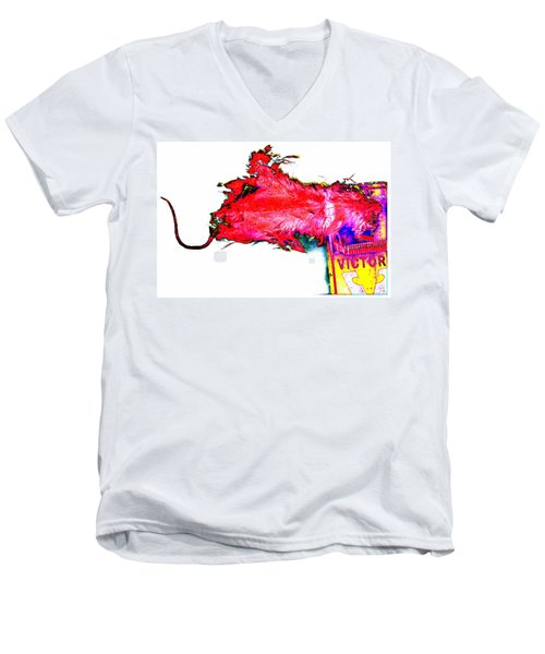 Pop Art Mousetrap Men's V-Neck T-Shirt by Marianne Dow
