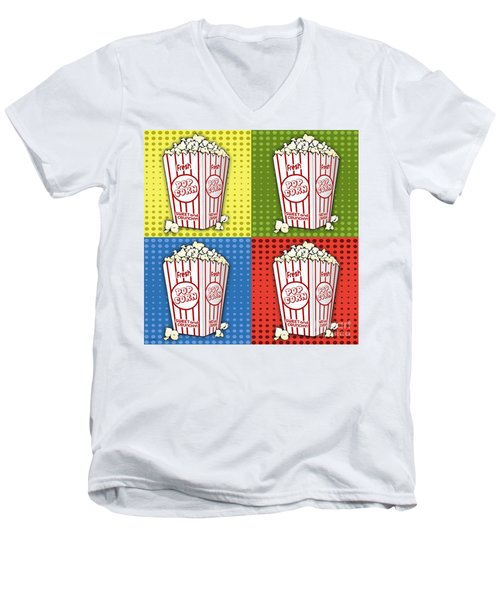 Popcorn Pop Art-jp2375 Men's V-Neck T-Shirt