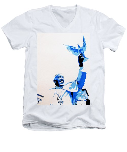 Pope Francis Men's V-Neck T-Shirt