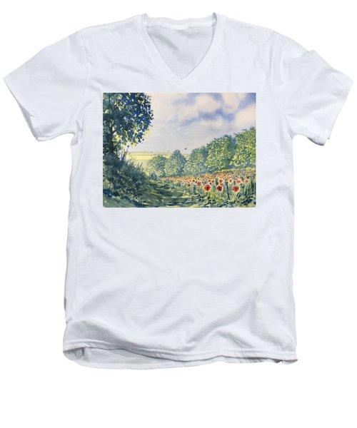 Poppies A'plenty Men's V-Neck T-Shirt