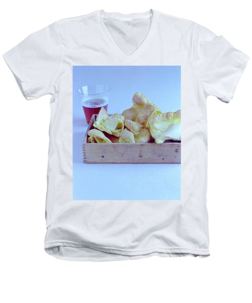 Pork Rinds With A Pint Men's V-Neck T-Shirt