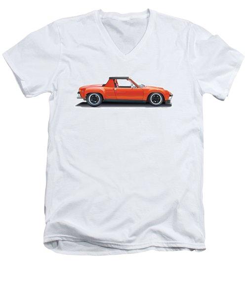 Porsche 914-6 Gt Men's V-Neck T-Shirt by Alain Jamar
