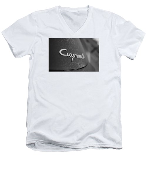 Standing Porsche Cayman S Men's V-Neck T-Shirt by Miguel Winterpacht