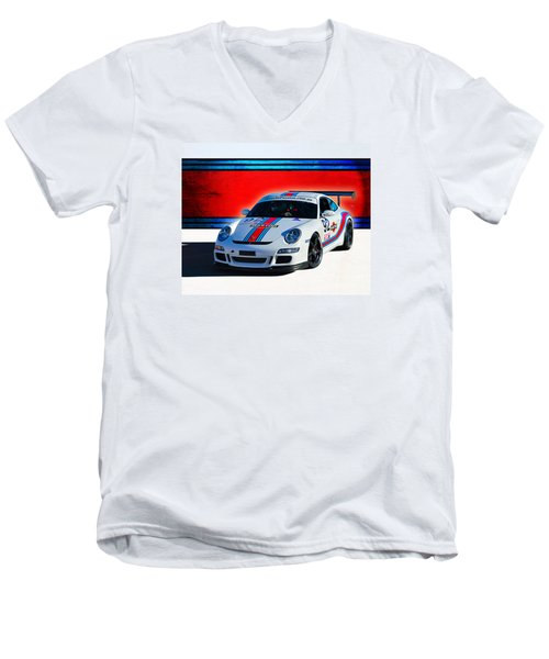Porsche Gt3 Martini Men's V-Neck T-Shirt