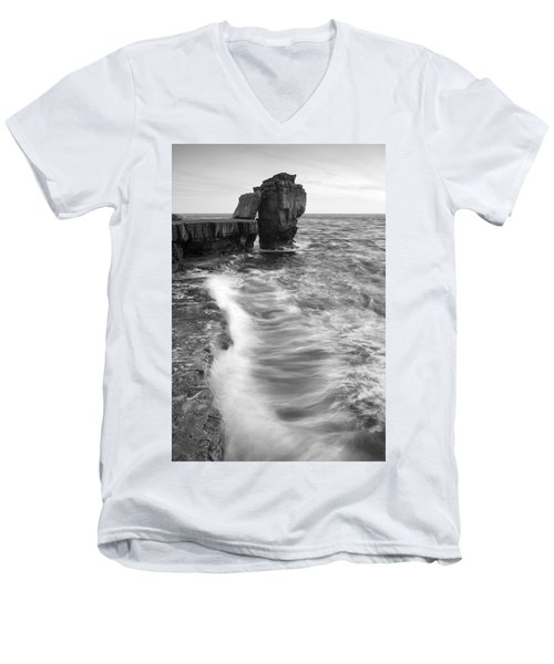 Portland Bill Seascape Men's V-Neck T-Shirt