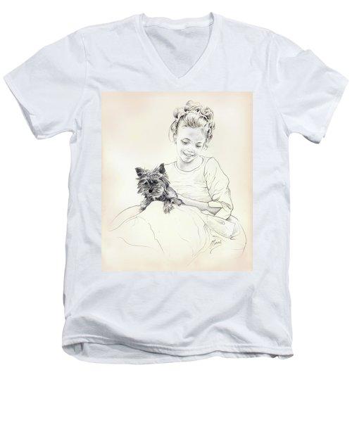 Portrait Of Sylwia Men's V-Neck T-Shirt