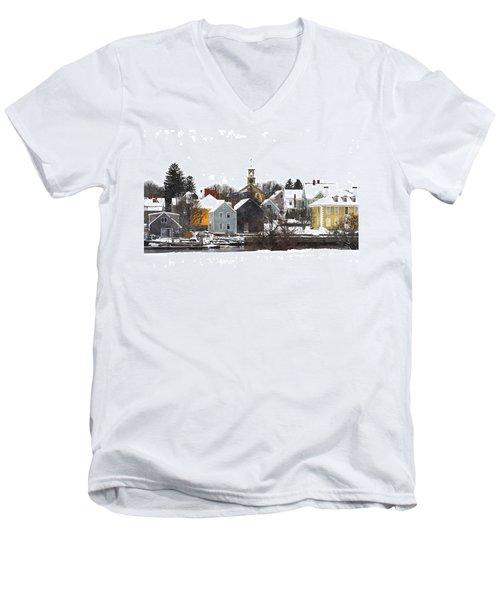 Portsmouth Waterfront Pwwc Men's V-Neck T-Shirt