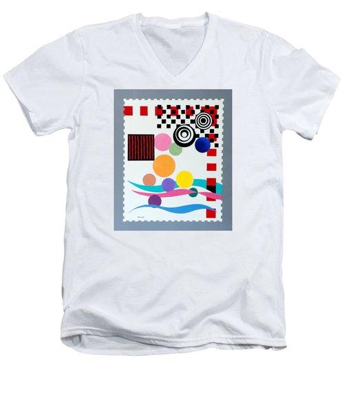 Postage Paid Men's V-Neck T-Shirt