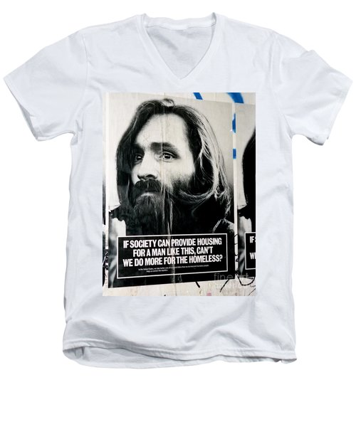 Poster Boy Charlie Men's V-Neck T-Shirt by Ed Weidman