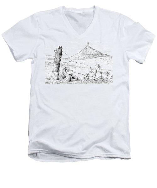 Prairie Rattler Men's V-Neck T-Shirt