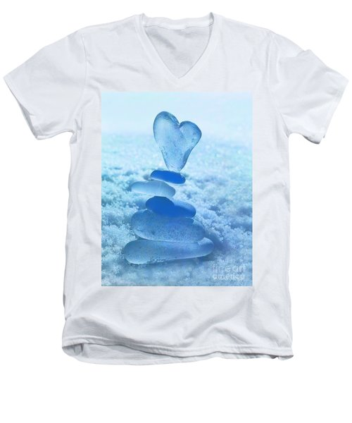 Precarious Heart Men's V-Neck T-Shirt