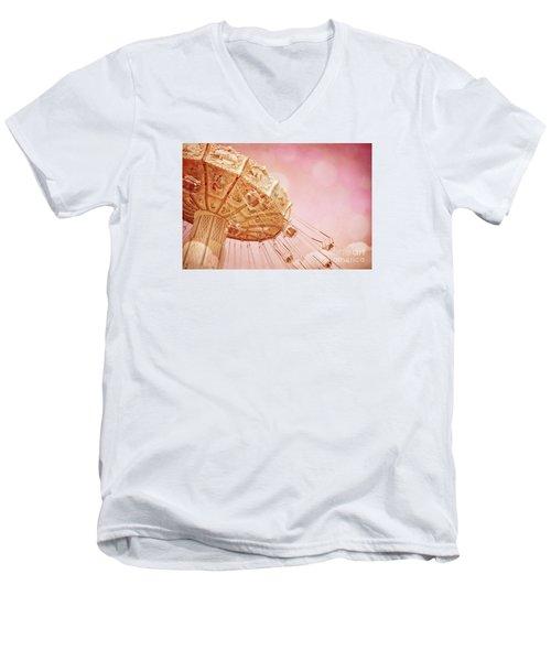 Carnival - Pretty In Pink Men's V-Neck T-Shirt by Colleen Kammerer