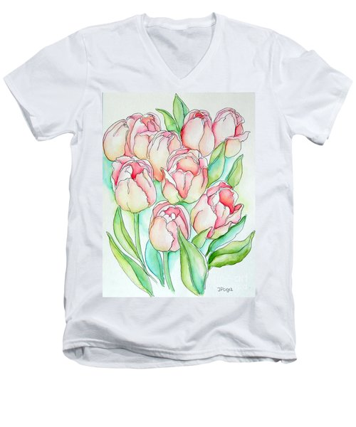 Pretty Tulips Men's V-Neck T-Shirt