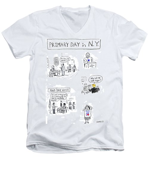 Primary Day In New York Men's V-Neck T-Shirt