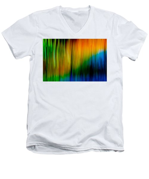 Primary Rainbow Men's V-Neck T-Shirt