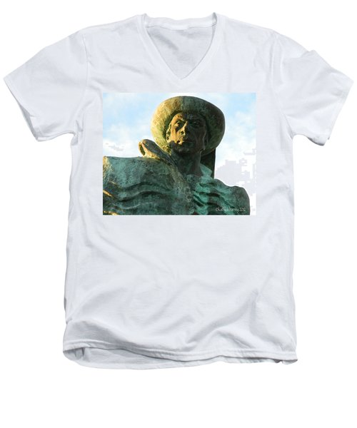 Men's V-Neck T-Shirt featuring the photograph Prince Henry The Navigator by Kathy Barney