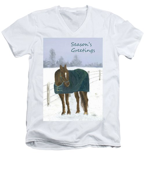 Prince Seasons Greetings Men's V-Neck T-Shirt