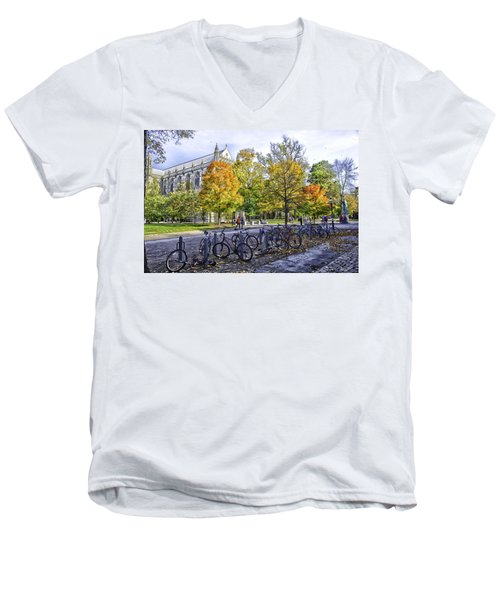 Princeton University Campus Men's V-Neck T-Shirt by Madeline Ellis