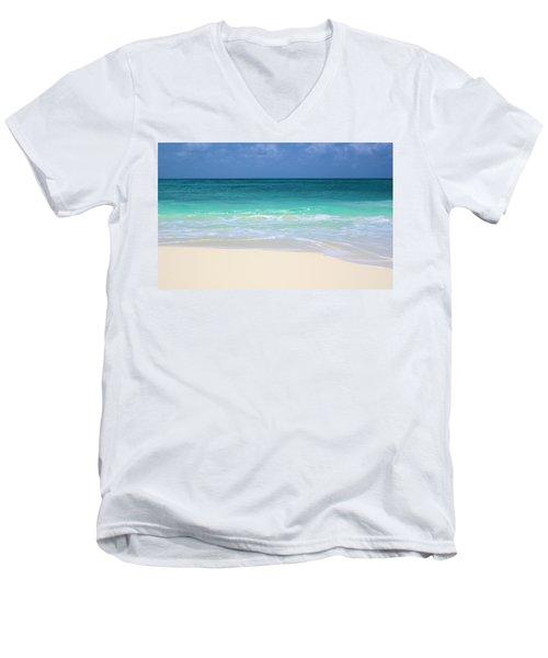 Pristine Beach Cancun Men's V-Neck T-Shirt