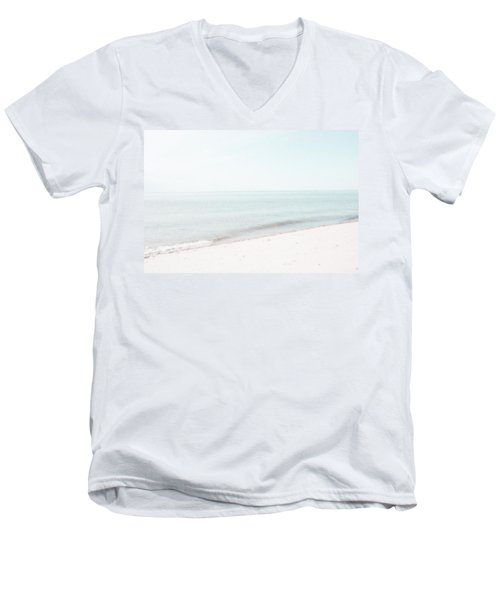Men's V-Neck T-Shirt featuring the photograph Provincetown From Ryder Beach by Brooke T Ryan