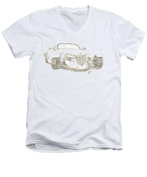 Prowler Sketch Men's V-Neck T-Shirt by Chris Thomas