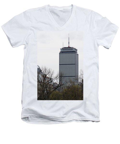 Prudential Tower Men's V-Neck T-Shirt