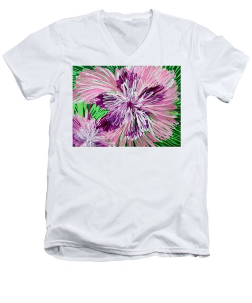 Psychedelic Flower Men's V-Neck T-Shirt