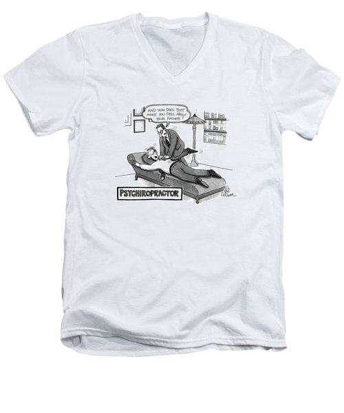 Psychiropractor Men's V-Neck T-Shirt