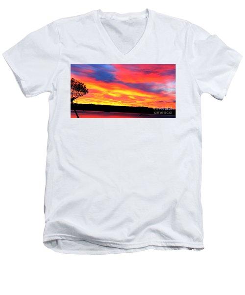 Puget Sound Colors Men's V-Neck T-Shirt