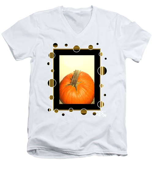 Pumpkin Card Men's V-Neck T-Shirt