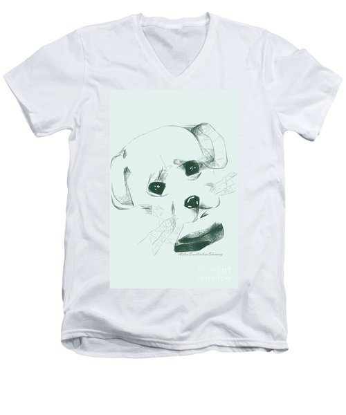 Puppy Men's V-Neck T-Shirt