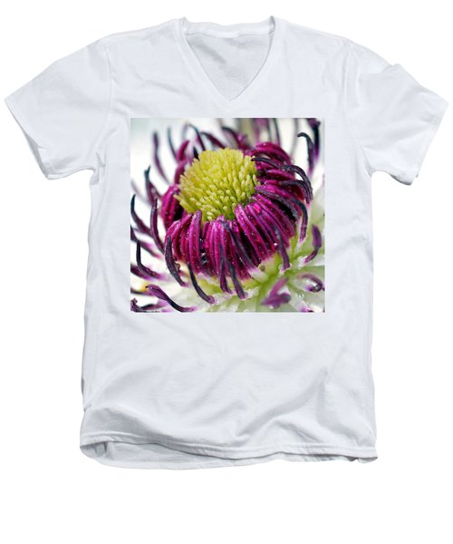 Purple Flower Men's V-Neck T-Shirt
