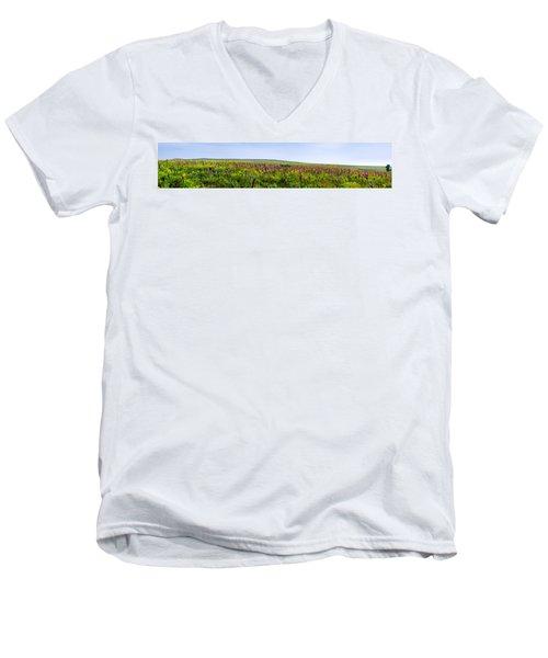 Purple Hills Men's V-Neck T-Shirt