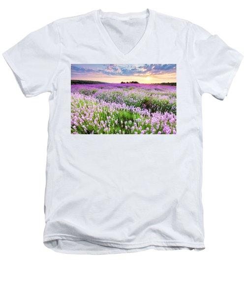 Purple Sea Men's V-Neck T-Shirt