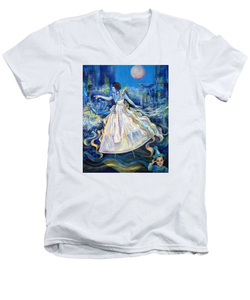Pursuit Of Happiness Men's V-Neck T-Shirt by Anna  Duyunova
