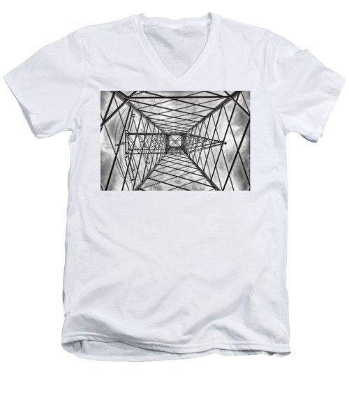 Men's V-Neck T-Shirt featuring the photograph Pylon by Howard Salmon