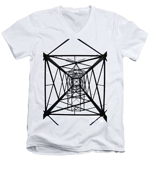 Pylon Men's V-Neck T-Shirt by Nina Ficur Feenan