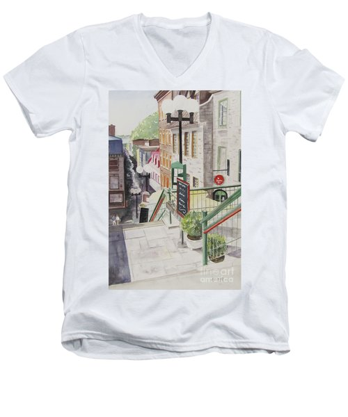 Quebec City Men's V-Neck T-Shirt